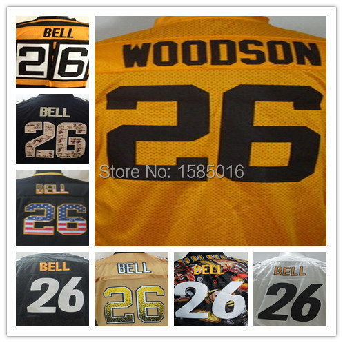 26 LeVeon Bell Jersey Steelers Football Jersey Stitched Logos Custom Limited Authentic Cheap Size 60 XXXXXL Accept Mix Order(China (Mainland))