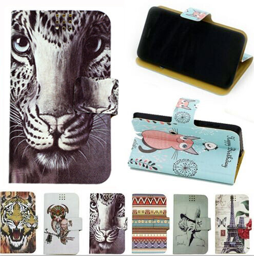 360 Degree Rotate Stand Cool Case PU Leather Universal Cartoon Case For Prestigio Grace X3 PSP3455 DUO + Gift(China (Mainland))