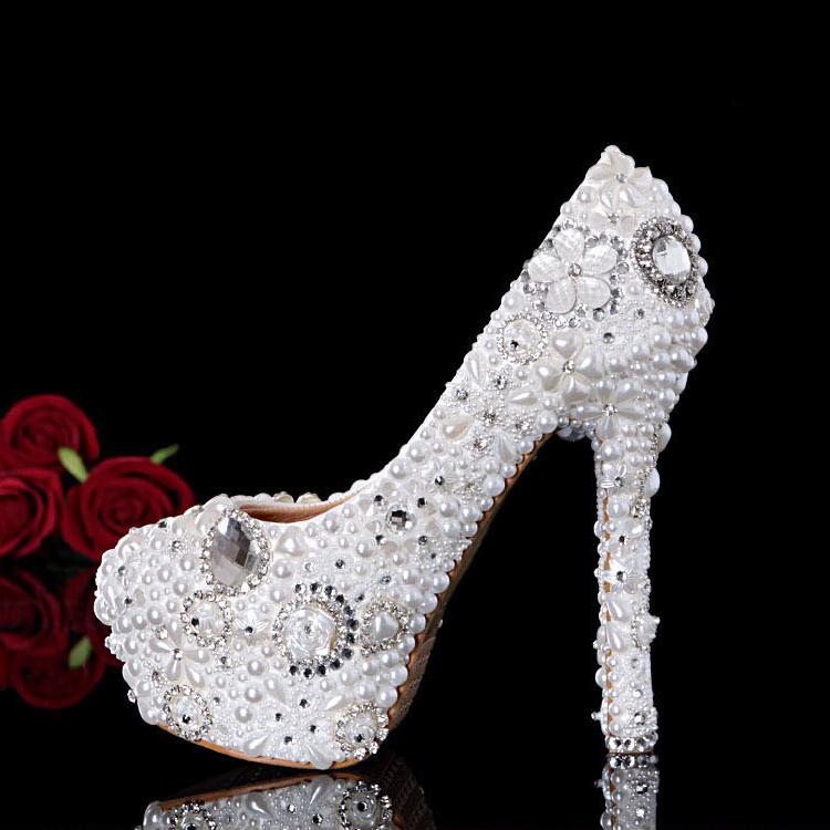 Фотография women high heels pumps 2016 14cm ultra high heels wedding pointed toe thin heels pumps fashion sexy white bride pumps