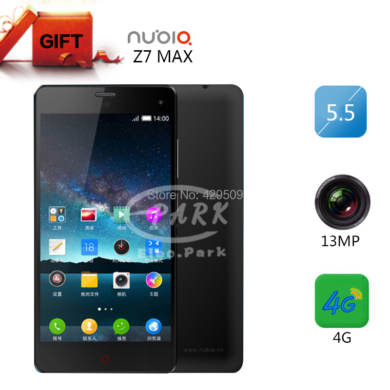 "ZTE Nubia Z7 Max 4G FDD LTE Phone Snapdragon 801 2.5GHz 2GB RAM 32GB ROM 5.5"" 1920x1080 13MP Camera Celulares Android Original()"