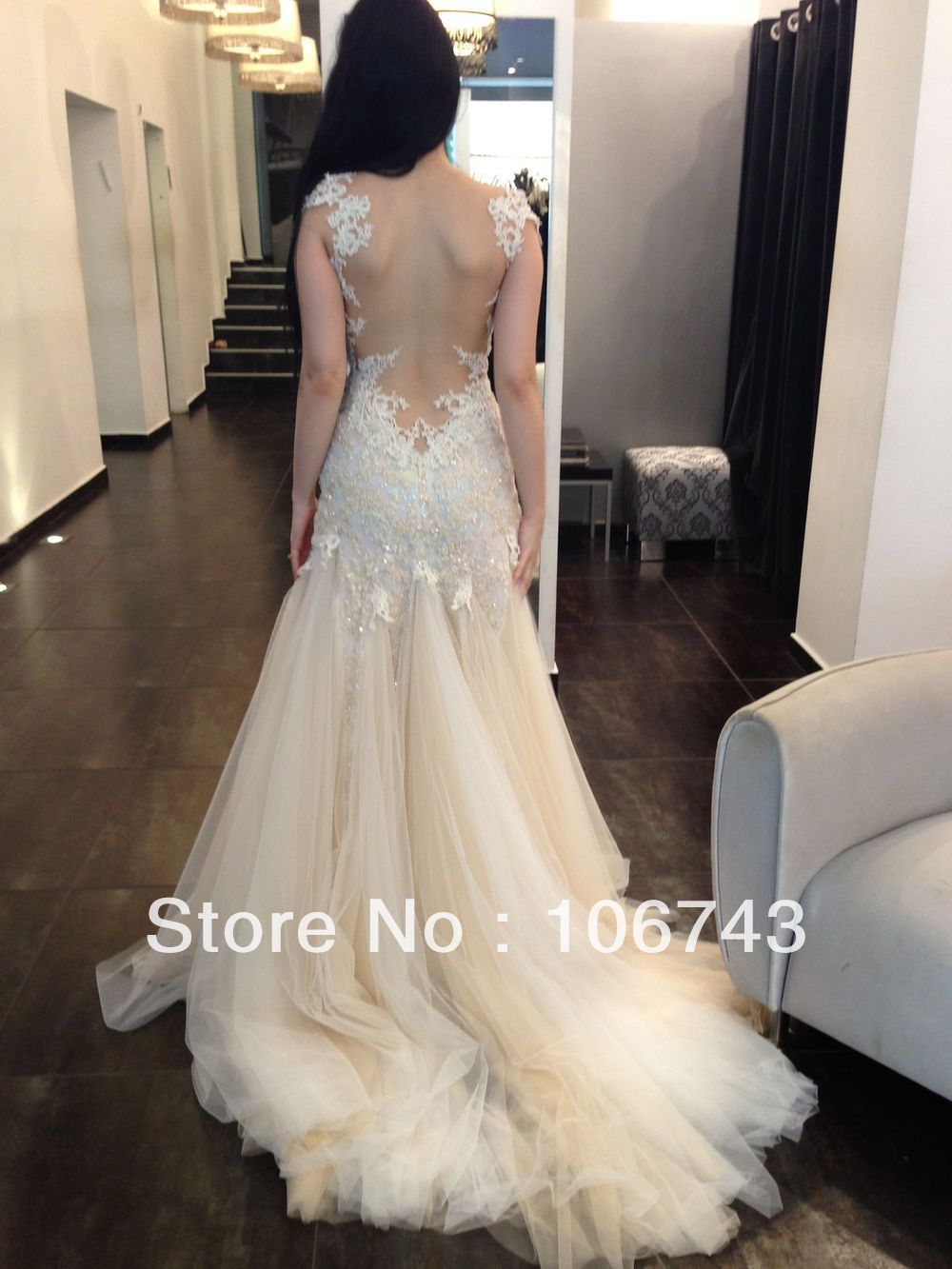 Free shipping 2016 new design custom sheer appliques for Wedding dress free shipping