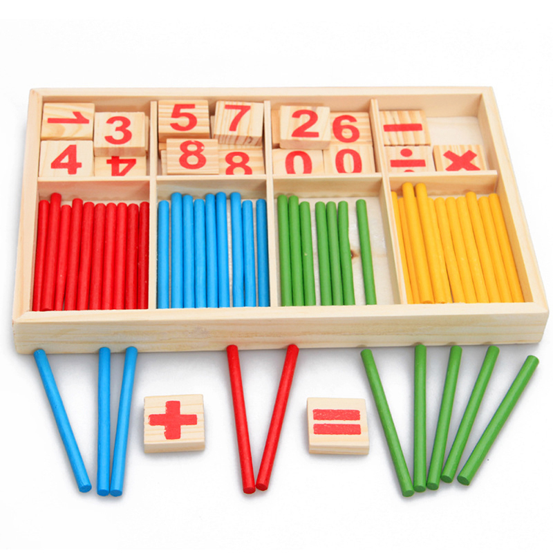 Children Wooden Numbers Mathematics Early Learning Counting Educational Toy(China (Mainland))