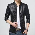 2016 men s fashion leisure business leather high grade pure color jacket brand motorcycle leather jackets