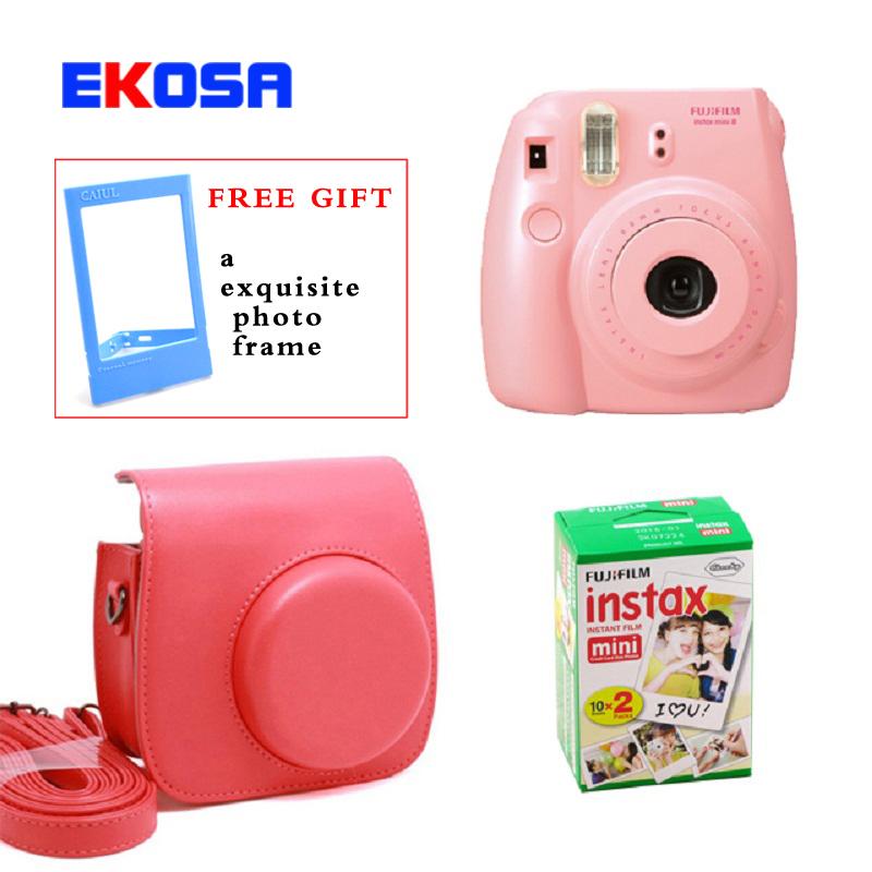 Fujifilm Fuji Instax Mini 8 Instant Film Photo Camera + Mini 8 Bag + Fujifilm Instax Mini 8 Film 20 Sheets Free Shipping