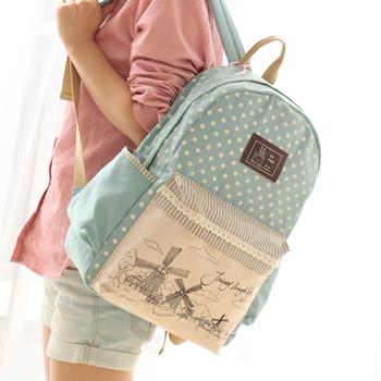 Новый модный холстяной рюкзак, детская школьная сумка, женский детский школьный ранец, ...