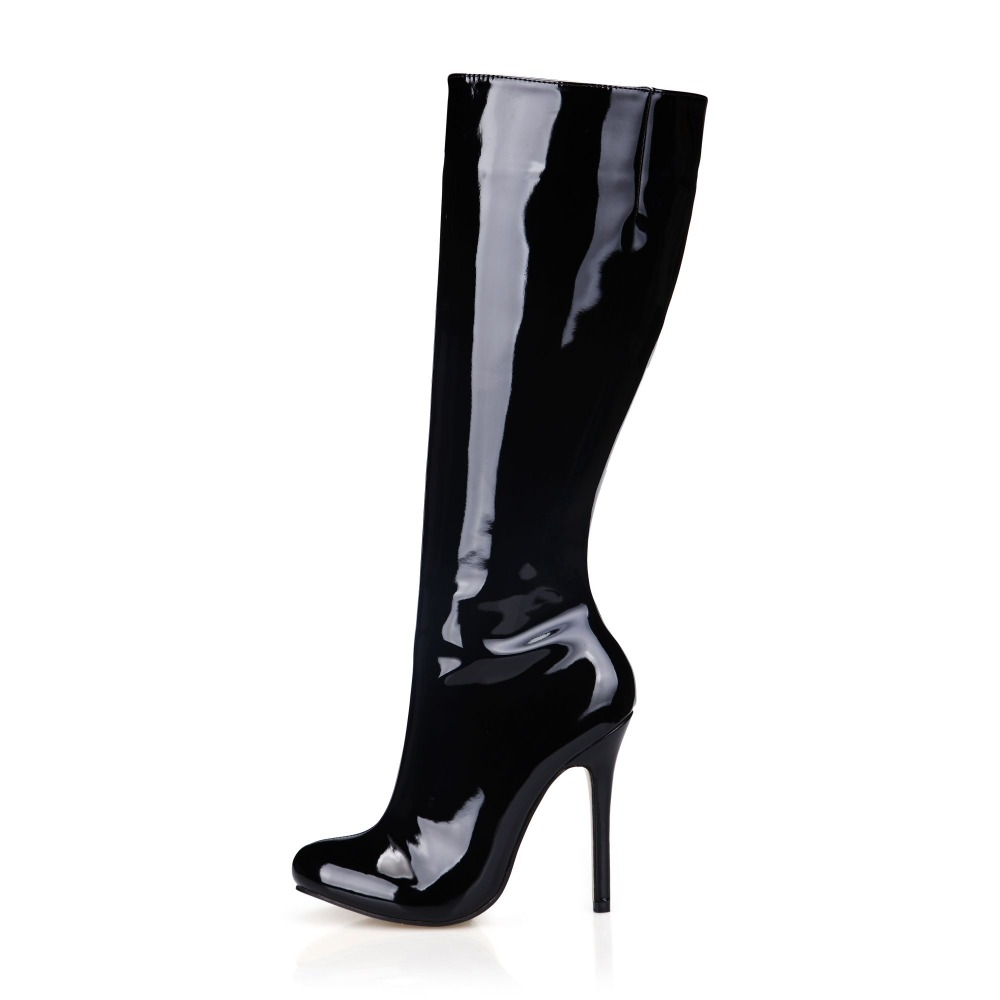 Click on any size 13 and up high heel boot pictures below to get more information about the item, or to see a larger image, or to purchase the sexy larger size high heel boots. Heel height ranges from 2 inches to 8 inches. Ankle high, knee high, thigh high, go-go, wide width, fetish we have almost any style you can imagine.