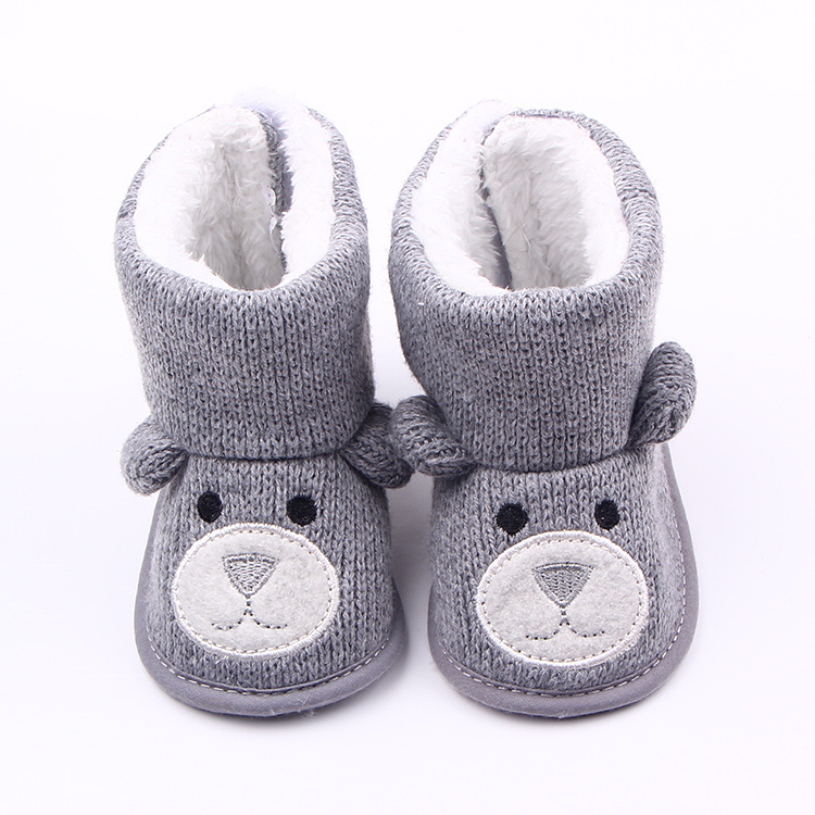 Best Selling New Fashion Super Winter Baby Shoes Boots Infants Warm Shoes Boys Baby Animal Prints Shallow Fur Newborns Boots(China (Mainland))