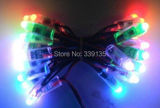 12mm full color TLS3001 led module light pixel, Round shape, 50pcs/string, Waterproof IP68, DC5V input - COOL LED Strore store