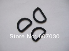 200 Pcs  1 inch ( 25mm ) Black Plastic Dee Rings For Webbing Strapping D Rings(China (Mainland))