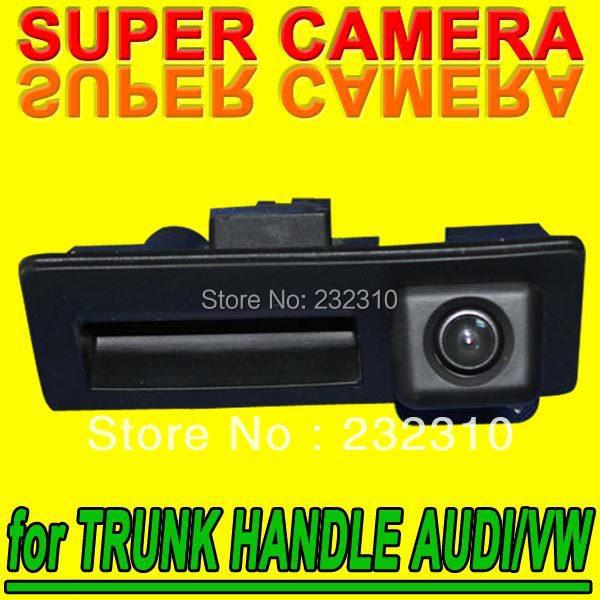 Car rear view backup parking camera for Trunk handle Audi A4 S4 A5 S5 Tiguan Toureg high-solution PAL( Optional) for GPS Radio(China (Mainland))