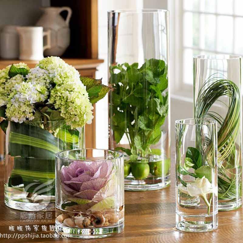 Glas Vase für Blumen Hochzeit Requisiten Spur Zylinder Vase Tisch ...