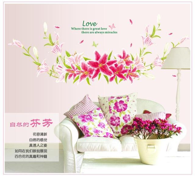165 * 63 см романтический 9066 крупных стикер стены спальня уолл-этикеты винила DIY домашнего декора стикера стены