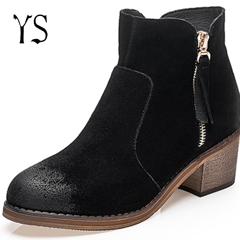 Y-s 2016 Spring Womans Sexy Suede Boots Womens Zip Genuine Leather Shoes Female Pull On Short Booties Youth Funky Botines w-042<br><br>Aliexpress