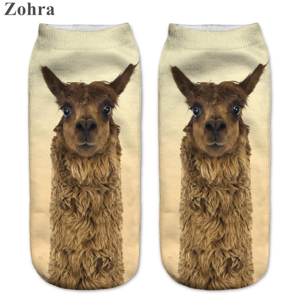Zohra Funny Brown Alpaca 3D Print sock Womens Girls Low Cut Ankle Socks Jogging Sport Cotton Hosiery Animal Shapes Printed SockОдежда и ак�е��уары<br><br><br>Aliexpress