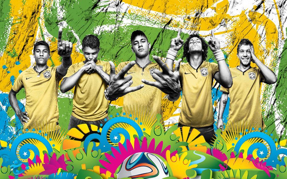 2014 world cup brazil soccer team 3'Size Silk Fabric Canvas Poster Print ZM 001(China (Mainland))