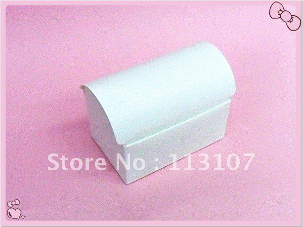 Free shipping! White Wedding Treasure Chest Favor Boxes,Candy Box, Gift Box(China (Mainland))