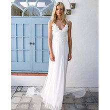Buy 2017 Vestidos De Novia White Simple Beach Sexy Backless boho Wedding Dresses bohemian Bridal Gown Vestido De Casamento for $105.23 in AliExpress store