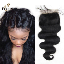 7A Lace Closure Bleached Knots Brazilian Body Wave Closure Base Top Human Hair Closure Virgin Hair Free Part Middle Part 3 Way