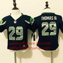 100% stitched baby Seattle Seahawks toddler 16 Tyler Lockett 3 Russell Wilsons 12 Fan 24 Lynch seahawk 88 Jimmy Graham(China (Mainland))