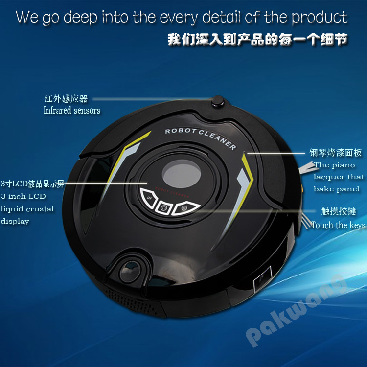 Most Advance Robot wet and dry Vacuum Cleaner,Multifunction (Sweep,Vacuum,Mop,Sterilize)Schedule,broom machine(China (Mainland))