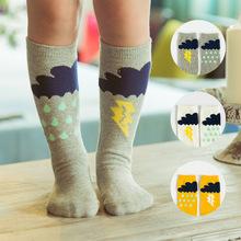 Kids Cotton Socks Knee High Toddler Boot Sock Leg Warmer Baby Boy Girl Children Cute Rainy Pattern Long Socks(China (Mainland))