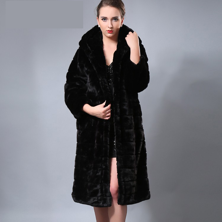 Black Long Faux Fur Coat - JacketIn