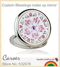 Beautiful Girls make up mirror diy Blessings novelty honey birthday gift for woman Personalized custom free shipping(China (Mainland))