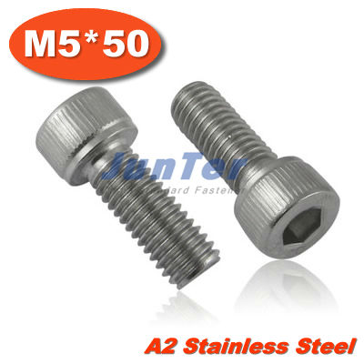 100pcs/lot DIN912 M5*50mm Stainless Steel A2 Hex Socket Head Cap Screw<br><br>Aliexpress