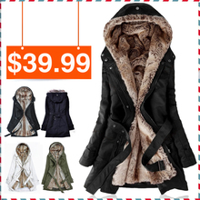 free pp New Lady Women Thicken Warm Winter Coat Hood Parka Overcoat Long Jacket Outwear instyles
