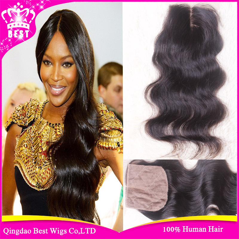Peruvian Body Wave Silk Base Closure Free Middle 3 Part 6A Peruvian Virgin Hair Silk Top Closure With Bleached Knots Stock 4x4<br><br>Aliexpress