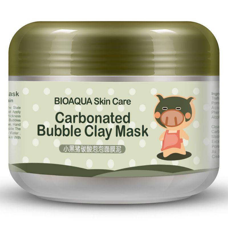 2017 Hot Sale Deep Pore Cleansing Clay Mask Carbonated Bubble Anti-Acne Moisturizing Face Mask ZY84