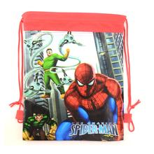 1pic spider man School Bags children bags Drawstring Bags sports shoulder swim outdoor backpacks Kids Drawstring Backpack& Bag