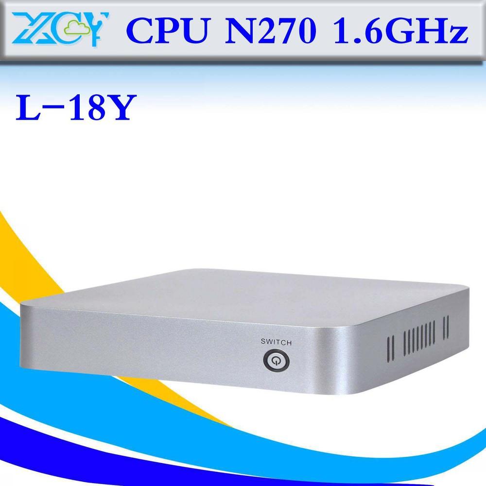 Best quality INTEL ATOM N270 1.6GHZ barebone mini pc thin client cheap mini pc laptop computer(China (Mainland))