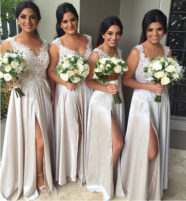 High Quality Silver Grey Bridesmaid Dresses Promotion-Shop for ...