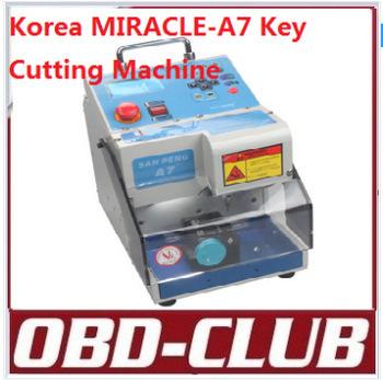 Super Performance 2015!Korea miracle-a7 Key Cutting Machine MIRACLE A7 Auto Key Programmer Locksmiths Tool Fast Express Shipping(China (Mainland))