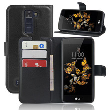 Buy LG K8 case cover fashion luxury filp Lychee leather wallet stand phone case cover cell phones LG K8 for $3.88 in AliExpress store