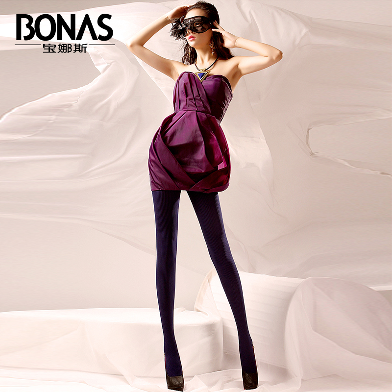 2016 BONAS Slim Fit Tights High Quality Pantyhose Autumn Winter Warm Stretchy Tights Female Soft Comfortable Seamless Stockings(China (Mainland))