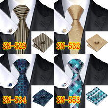 2015 Fashion Novelty Tie Silk Jacquard Necktie Hanky Cufflinks Set Business Wedding Ties For Men Free