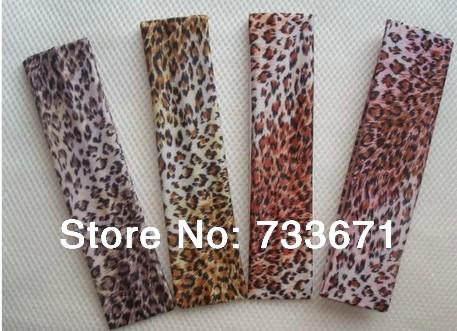 20pcs/lot High Quality fashion yoga women headbands Leopard Print Sports Head protection milk silk fabric wide ribbon xth229(China (Mainland))