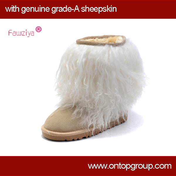 Long plush snow winter ankle boots for women<br><br>Aliexpress