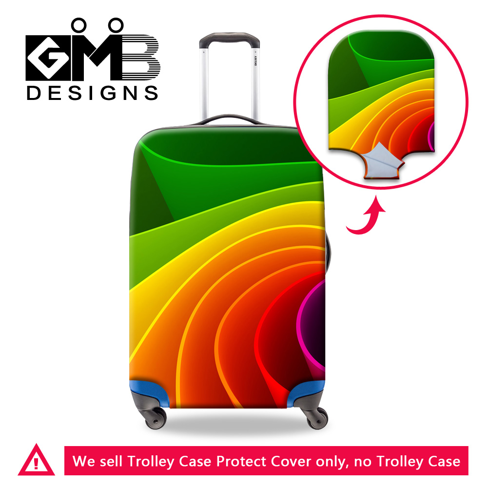 Dispalang personalized custom elastic 18-30 inch luggage protector covers waterproof dustproof Scratch-resistant suitcase cover(China (Mainland))