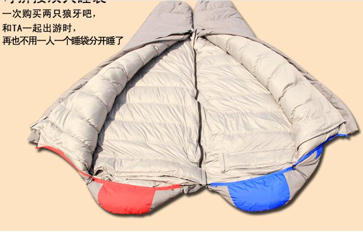 EMS camping winter mummy down sleeping bag White duck down the mummy adult sleeping bags
