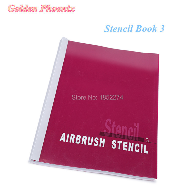 Stencil Book 3 Golden Phoenix Airbrush Tattoo Stencil For Temporary Body Paint-Beauty Makeup 100 Designs Free Shipping
