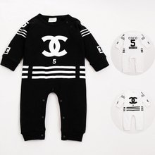 2016 Spring Newborn Baby Clothes Long Sleeve Baby Boy Romper Sports Baby Girls Rompers Cotton Baby Jumpsuits Infant Clothing