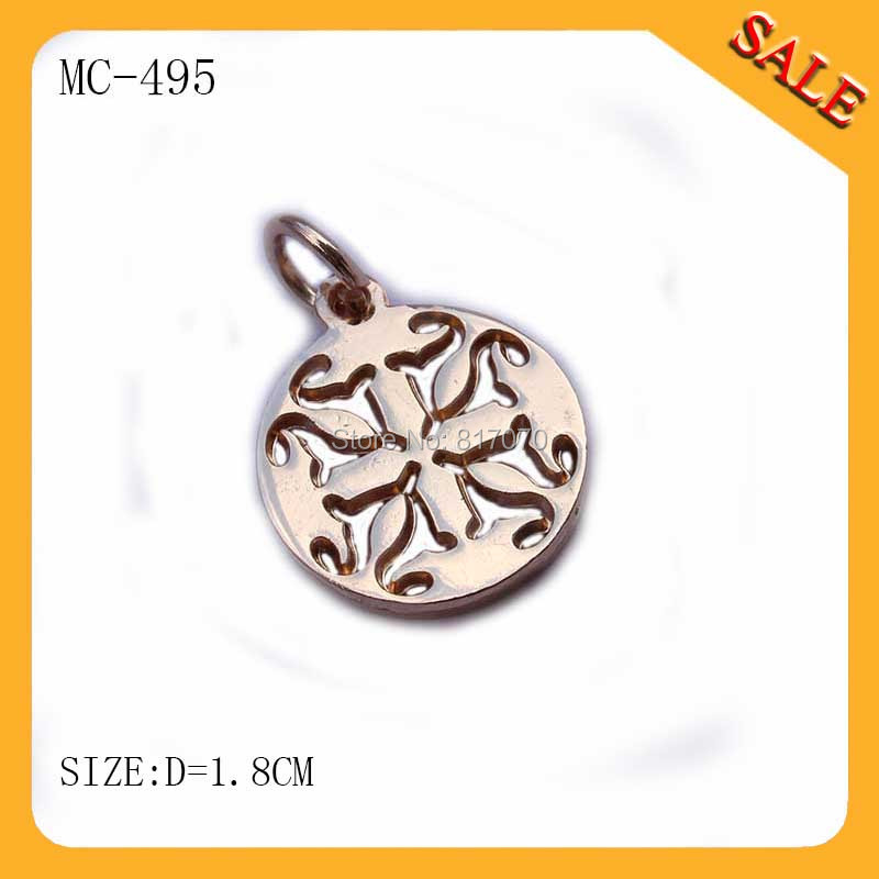 MC495 custom personalized stamped garment jewelry name tags,metal charms pendants(China (Mainland))
