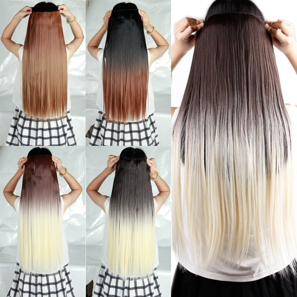 Dip Dyed Hair Extensions Brown Human Hair Extensions