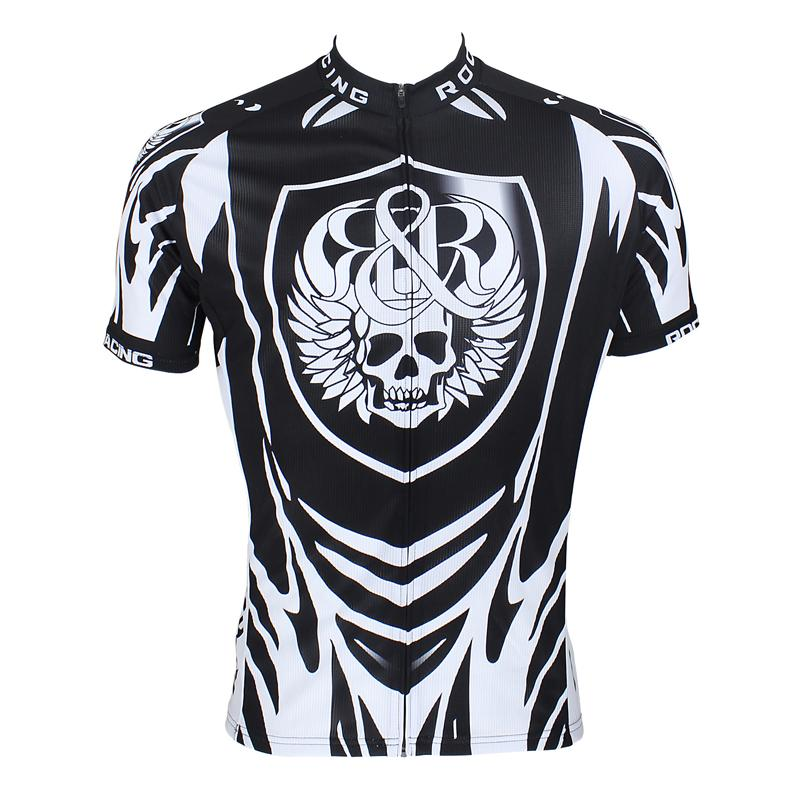 Men Cycling Jersey skeleton Pattern Short Sleeve Tops Breathable Bike Bicycle Clothing For Spring Summer Autumn Sportswear(China (Mainland))
