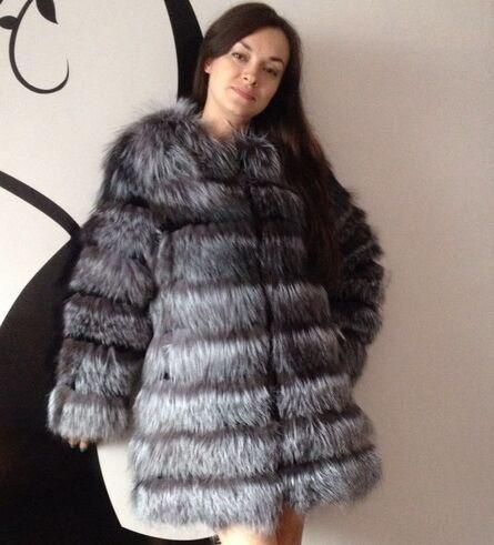 New Fashion Brand Winter Warm Whole Skin Fox Fur Coats Women Fur Overcoat Genuine Silver Fox Fur Coats Plus Size BF-C0126(China (Mainland))