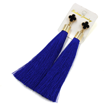 New fashion jewelry vintage earrings drop earring black fashion tassel earrings female for women brincos long earrings(China (Mainland))
