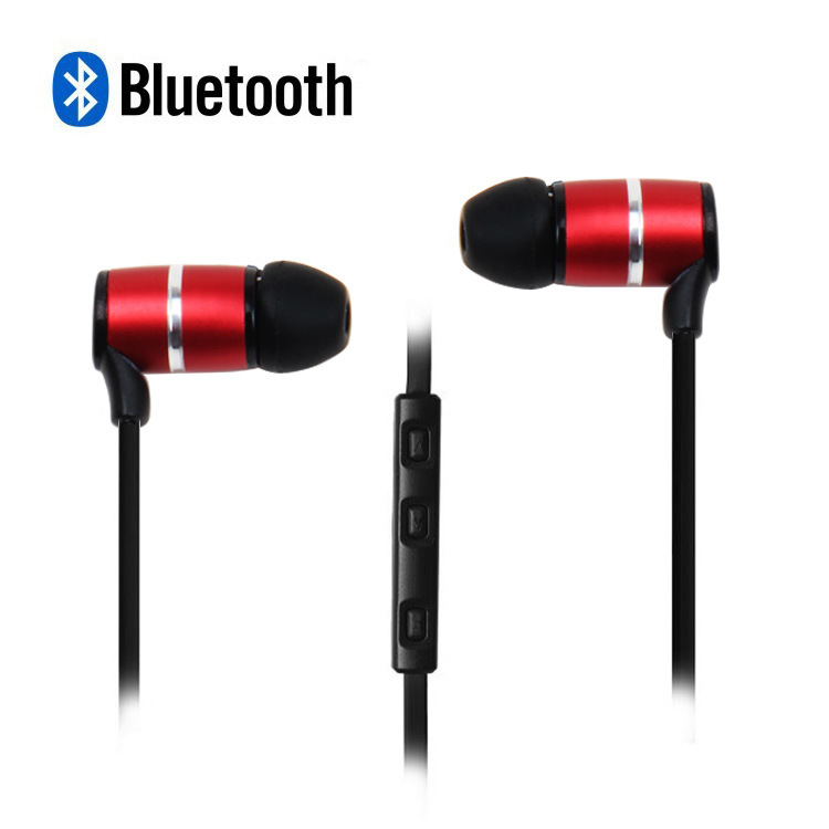 sports wireless stereo headphones Wireless Bluetooth stereo earbud headset noodles 4.0 sports support music voice control Apple(China (Mainland))